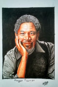 Morgan Freeman by TheTrialBeat