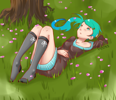 Laying Under a Blossom Tree by veerlez