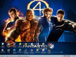 Fantastic Four Desktop by llteaniebeanie