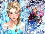 Elsa and Anna of Arendelle // Frozen by MaruExposito