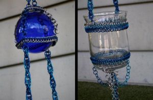 Blue Candle Holder by gnomeofmaille