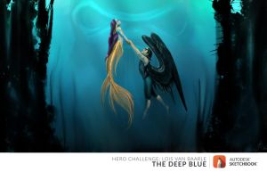 July Challenge The Deep Blue by mipatafria