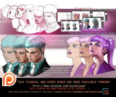 Female. Male look up/Down tutorial pack .promo. by sakimichan