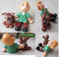 scooby doo and shaggy by Kat-Skittychu