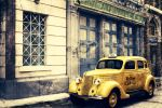 Old Yellow Cab Taxi by airl4ngg4