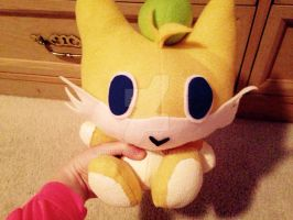 Sonic Adventure Tails Chao Plushy! (Front) by MINDYWAAAA