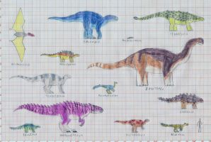 Early Cretaceous bestiary part1 by TomChaney