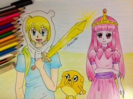 Adventure Time + Drawing video by Amana-Jackson
