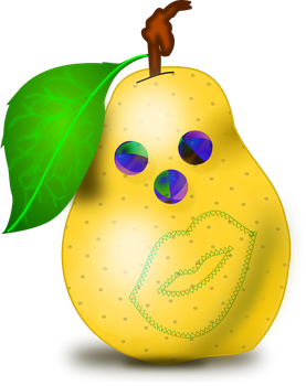 Clown Pear by AndroidLG