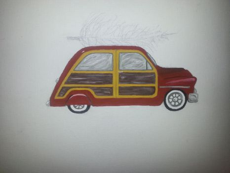 WIP holiday car painting 2 by smunk1