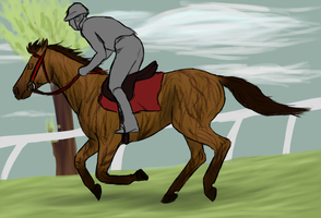 traing for the Derby by patchesofheaven74