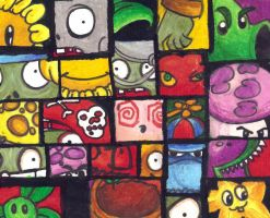 Plants Vs. Zombies Collage by Trojanwarrior46