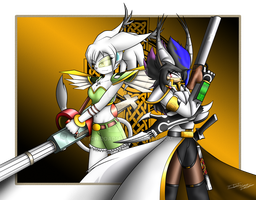 Neige and Hichiro (DemondHunters(?) (complete) by HichiroDNdarkurian