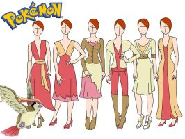 Pokemon fashion: Pidgeot by Willemijn1991