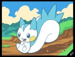 Pachirisu from Pokemon by TheEvilSquirrel