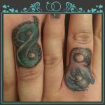 Our Infinity Engagement Tattoo Rings by strawberrieTALLcake