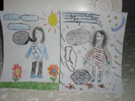 Good and evil by Lorna10