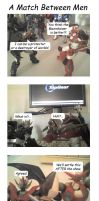 4koma -  Match Between Men by blackdove77