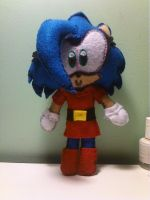 Sonica Plushie done by SonicaSpeed