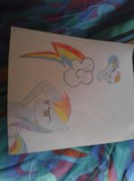 rainbow dash drawing by kartracer17