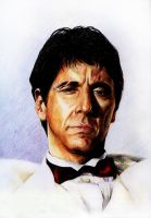 Al Pacino - Scarface by Blookarot