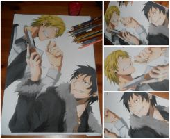Shizuo and Izaya by multieleonora96