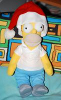 Homer with the Christmas hat by GladiatorRomanus