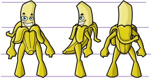 bannana character turn around by windflame