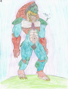 Draz, The Lost Krogan - Colored by EmeraldGrizzly