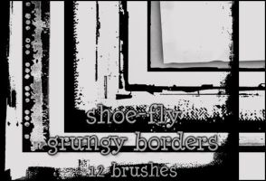 Grungy border image pack by shoe-fly