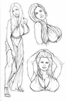Traditional Pin-up's (5) by Digital-Art-Envy