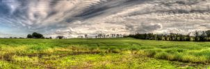 Knockagh field Panorama by marklewisphotography