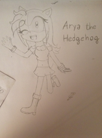 Arya the Hedgehog by GiulytheFox