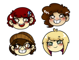 Chibie heads by MissBluebee