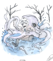 The Octopus Fight by DemonCartoonist