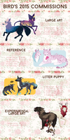 2015 commissions [CLOSED] by smallbirds
