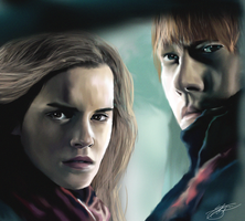 Hermione and Ron by ArchXAngel20