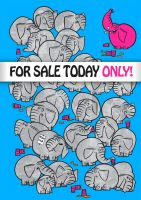 Pink Elephant For Sale by chunkysmurf