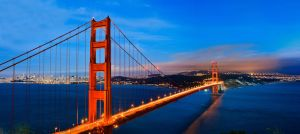 Night View Golden Gate Bridge by xelement