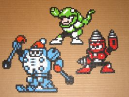 Megaman bead bosses 08 by zaghrenaut