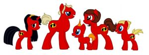 MLP FIM Incredibles by kaoshoneybun