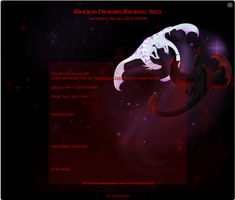 Biocras Dragon Journal Skin2 by DragonsFlameMagic