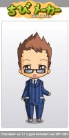 10th Doctor Chibi by BrigadierBenchpress