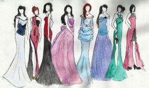 Gown Designs by aoixbaraxtenshi