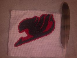 Fairy Tail logo Cross Stitch by Tifa666