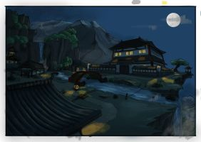 Japanese Mountain Village - Asset Creation Concept by mhofever