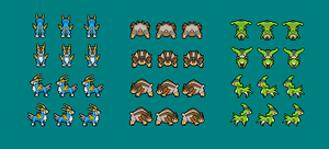 Virizion, Terrakion and Cobalion PMD Sprites by Sweet-Fizz