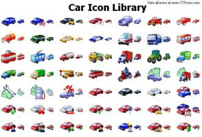 Car Icon Library by alexwhite2