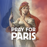 Pray For Paris by davidkawena