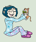 Coraline on Christmas Morning by KwaziiCat